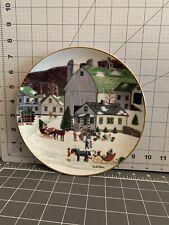"Danbury Mint ""Wreath Maker"" plate. Christmas Celebrations of Yesteryear"