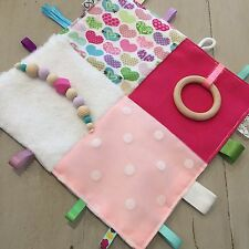 Extra Sensory Baby Tactile Teething Taggie, Blanket, Hand Made, Large 30 x 30cm