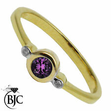 Diamond Three-Stone Yellow Gold Round Fine Gemstone Rings