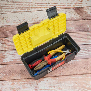 Hand Carry Tool Storage Lockable Storage Organizer Tool Box  Convenient Portable