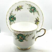 Vintage Royal Stafford Bone China Cup & Saucer Set Pattern TRUE LOVE England