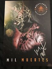 Mil Muertes Ricky Banderas Autograph Picture Lucha Underground Tna Aaa Wrestling