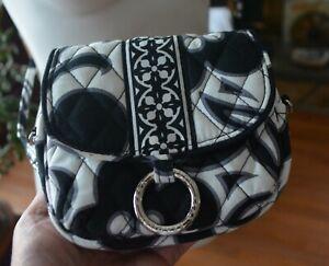 NEW Vera Bradley Mini Black & White quilted Crossbody Bag