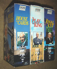 VHS BBC TV Series House of Cards Video 6 Tape Set The Final Cut To Play the King