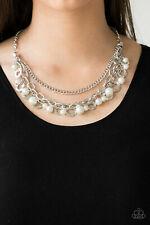 Paparazzi Hoppin Hearts White Necklace & Earrings