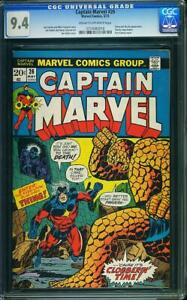 CAPTAIN MARVEL #26 CGC 9.4 1ST THANOS COVER #0710083010