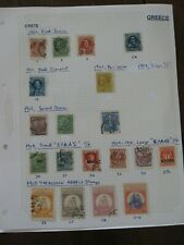 Greece and Crete Stamp Collection, on 50 album leaves 1900-2010