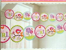 TWEET BABY GIRL-BABY SHOWER  1- PRINTED GARLAND -PARTY SUPPLIES