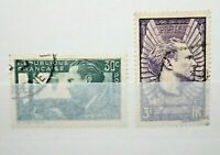 "FRANCIA 1937 ""AVIATORE JEAN MERMOZ"" TIMBRATI USED SET (CAT.10)"