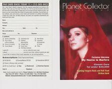 "Planet Collector Barbara Streisand Promo 4"" x 6"" advertising card"