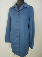 COACH Women's Cornflower Blue w/ Signature C Lining Trench Coat Sz XS EXC