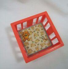 Vintage Fisher Price Little People PINK PLAY PEN Playpen BABY BED CRIB NURSERY