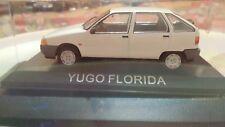 Modellino Bianco YUGO FLORIDA scala 1/43+ TECA