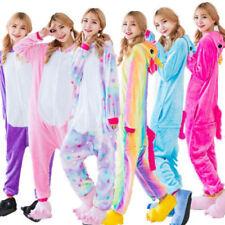Unisex Pajamas Unicorn Kigurumi Cosplay Costume Animal Sleepwear Halloween