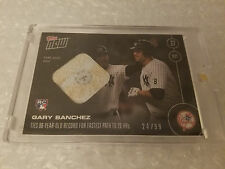 2016 Topps Now #509-B Gary Sanchez (RC) 20th HR Base Relic Jersey # 24/99