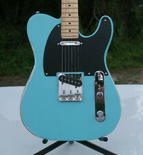 Distressed & Aged T Body Electric Guitar, Alder Satin Sonic Blue Nitro