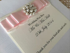 White or Ivory Handmade Personalised Wedding Post Box Sign