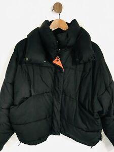 Urban Outfitters Women's Crop High Neck Puffer Jacket   XS UK6-8   Black