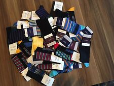 20 PAIRS MEN'S ADULTS BLACK COTTON SOCKS WITH MIX COLOURED UK SIZE 6-11  BRFDP