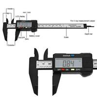 150mm LCD Digital Vernier Caliper Electronics Carbon Fiber Gauge Micrometer Tool