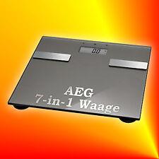 AEG PW 5644 FA titan 7in1 Glas-Personenwaage Multi-Analyse Körperfett Gewicht