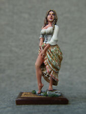 Courtesan on a square stand 54 mm. Elite tin soldiers St. Petersburg.