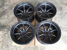 JDM 15x9 GunMetal pcd114.3 wheels 240z watanabe RS banana Z31 s30 ae86 s31 rkr