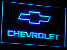 CHEVROLET Car Fan LED Neon Light Sign Plate Flag Club Decor Vintage Home Bar Kit