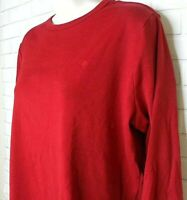 Women's Ralph Lauren Red Crew Neck Long Sleeve Rib Knit Top Plus Size 1X Logo
