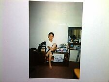 Vintage 90s PHOTO Filipino Boy Hat Tape Player Marshalls Bag Marlboro Cigarettes