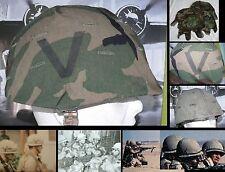 F 1 (Un)x Couvre casque woodland pour US M1 - Marquage usine 24th ID Victory Div