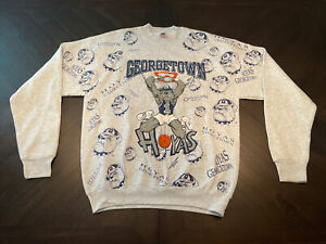 Vintage University of Georgetown Hoyas Sweatshirt Gray XL Circa 1991