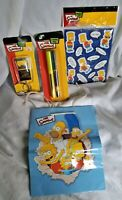 2007 The Simpsons Collection - Pens Keychain Bart Magnets and Gift Bag