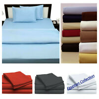 Egyptian Comfort 1800 Count Series 4 Piece Bed Sheet Set Deep Pocket Bed Sheets