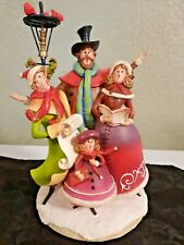 New ListingMusical Christmas Carolers At Lamppost Windup Plays Silver Bells