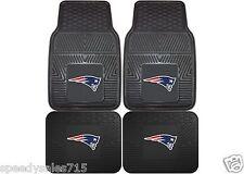 FANMATS NFL New England Patriots Front & Rear Heavy Duty Car Mats New Free Ship