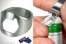 Stainless Steel Bottle Opener Ring Super Cool Novelty Gift Idea Father's Day