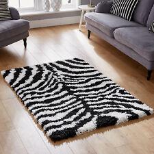 Soft 180x270cm Shaggy Zebra Black White Best Quality 5cm Pile Large Rug for