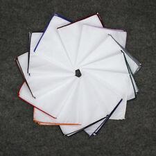 12 Different Colors Edge White Cotton Handkerchiefs Men Woven Wedding Hanky 9 in