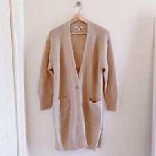 Uniqlo Wool Mohair Beige Long Cardigan Size XS 8