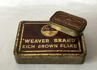 2 Empty Lambert & Butler WEAVER BRAND RICH BROWN FLAKE Tins One VERY Large