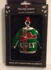 Harvey Lewis Ornament Ugly Christmas Sweater Holiday Tree Swarovski Crystal 2014
