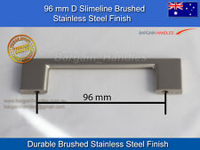 Kitchen handles Square Slimline durable brushed stainless steel finish 1x96mm