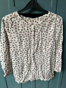 Cath Kidston Hedgehogs Blouse Top Shirt Size 8 Quarter Sleeved Women's