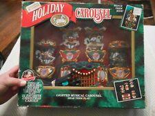 Mr Christmas Holiday Carousel Musical 4 Horses Circus Organ 21 Songs
