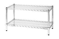 Scaffale in acciaio cromato 2 ripiani Archimede Linea 2x45 - 45x90x50cm/