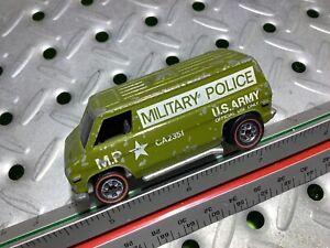 1974 Hotwheels Original Military police Van Redline