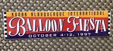 1997 Unused Bumper Sticker Albuquerque International Balloon Fiesta
