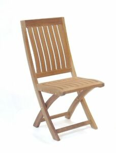 NTCH003S, Niagara Furniture, Niagara Teak Crown Folding Side Chair