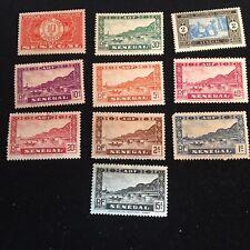 1914-1935 Senegal Postage Stamps, Unused, Postage Due Lot of 10